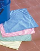 Affordable colour coded microfibre cloth Blue
